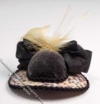 Ladies Animal Print Hat by Judith Blondell for Dollhouses