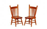 A Set Of Two Walnut Kitchen Chairs