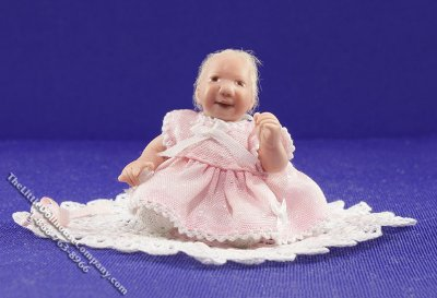 Miniature Angelica Spring Handmade Baby Doll with Blanket