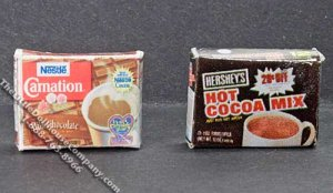 Miniature Hot Chocolate Box for Dollhouses (1/pk)