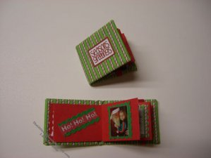 Miniature Christmas Scrapbook Album For Dollhouses