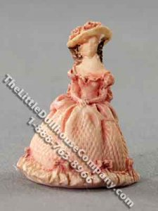 Miniature Standing Lady Figurine for Dollhouses