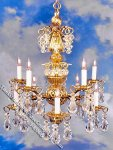 Dollhouse Scale Model Lady Donna Chandelier