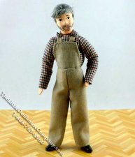 Carpenter Kurt Flexible Man Doll by Erna Meyer for Dollhouses