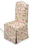 Dollhouse Scale Model Covered Dining Chair in Floral Pattern