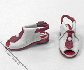 Miniature Leather Sandals by Judith Blondell
