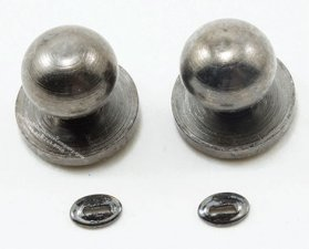 Miniature Pewter Door Knob With Keyhole (4/pk)
