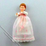 Baby Flexible Dollhouse Doll in Christening Dress by Erna Meyer