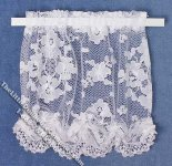 Miniature White Lace Curtain for Dollhouses