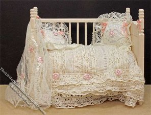 Miniature Open Crib by Danielle Design for Dollhouses
