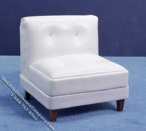 Miniature 3 Piece White Living Room Set for Dollhouses - Click Image to Close