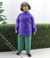 Betty Flexible Grandma Doll by Erna Meyer for Dollhouses