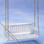 Miniature White Porch Swing for Dollhouses