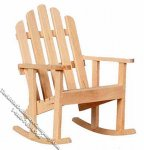 Miniature Unfinished Adirondack Rocker for Dollhouses