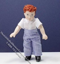 Miniature Child in White Shirt and Blue Pants by Patsy Thomas