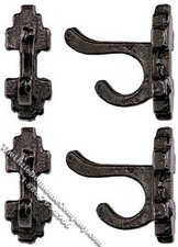 Dollhouse Scale Model Pewter Wall Hooks (4/pk)
