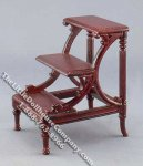 Miniature Mahogany Finish Library Stairs for Dollhouses