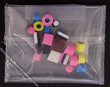 Miniature Bag of Assorted Licorice Candy for Dollhouses