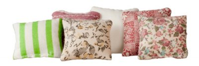 Dollhouse Pillows Assorted Colors 6pc