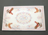 Dollhouse Scale Model Roosters Light Carpet