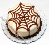 Dollhouse 1/2 Scale Model Ecru Spider Web Cake