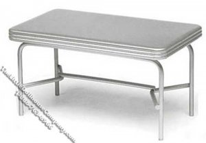 Miniature 1950's Style Metal Table for Dollhouses
