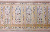 Art Panel Pattern Miniature Mural for Dollhouses