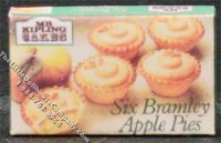 Miniature Box of Miniature Apple Pies for Dollhouses