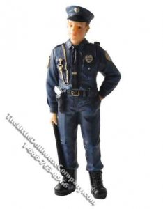 1/12 Scale Police Officer Resin Doll for Dollhouses
