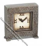 Miniature Grey Table/Mantle Clock for Dollhouses