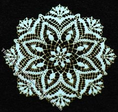 Miniature Snowflake Design Laser Cut Doily for Dollhouses