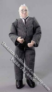 Older Man in Suit by Patsy Thomas for Dollhouses