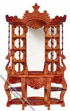 Miniature Victorian Style Walnut Etagere for Dollhouses