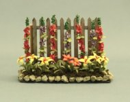 Garden Fence with Yellow and Red Flowers