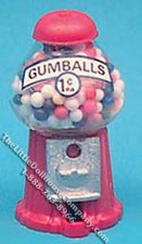 Miniature Counter-Top Gumball Machine for Dollhouses