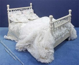 Miniature Dressed White Bed by Danielle Designs