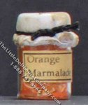 Dollhouse Scale Model Homemade Orange Marmalade in Sealed Jar