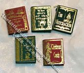 Miniature Reproduction Christmas Classics Books for Dollhouses