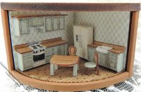"1/144"" Scale Kitchen Furniture Kit for Dollhouses"