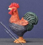 Dollhouse Scale Model Brown & Black Rooster