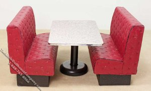 Miniature Restaurant Bench Seat/Table set for Dollhouses