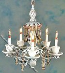 Dollhouse Scale Model White Teacups Chandelier