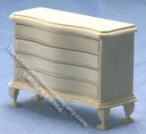 Miniature Four Drawer Chest, Unfinished