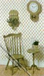 Miniature Duxbury Chair and Table Kit for Dollhouses