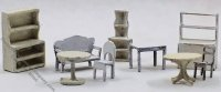 "1/144"" Scale Shop Furniture Kit"