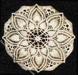 Miniature Flower Themed Laser Cut Oval Doily for Dollhouses