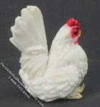 Miniature White Rooster for Dollhouses