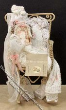 Miniature Dressed Rocking Chair by Danielle Design for Dollhouse