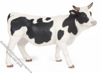 Miniature Black and White Cow for Dollhouses