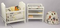 Dollhouse Miniature Three Piece Nursery Set